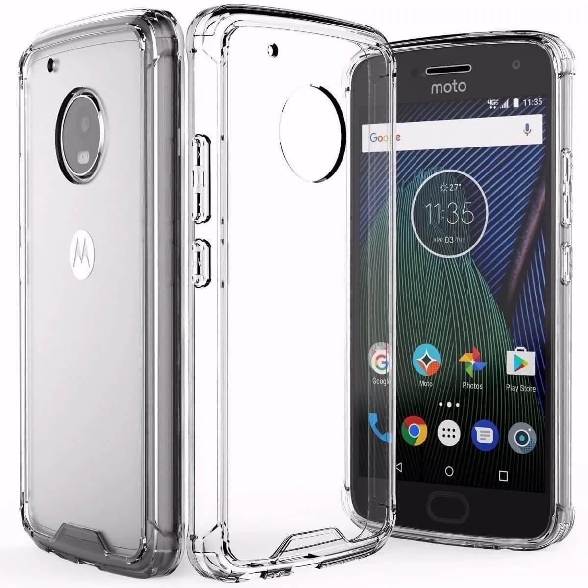 Capa Transparente Anti Impacto Motorola Moto G5 Plus Hrebos CT-MOTOG5PLUS