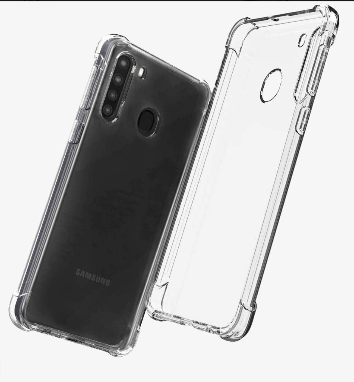 Capa Transparente Anti Impacto Samsung A21 CT-A21
