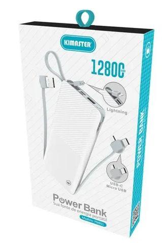 Carregador Portátil Slim 12800 Branco Kimaster PN951X