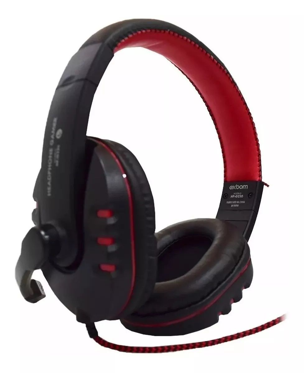 Headphone Gamer P2 com Microfone e Contr. Volume Exbom HF-G230
