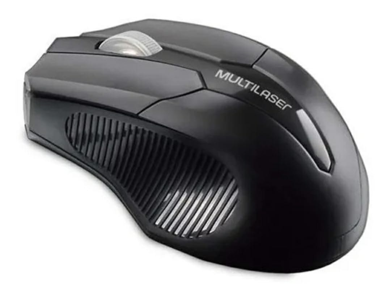 Mouse Sem Fio 2.4 Ghz Usb Box Preto Multilaser MO264