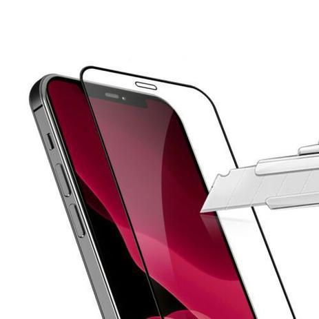 Película 3D de Vidro Iphone 12 MINI com Borda Preta P3D-12MINI-PR