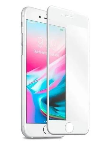 Película 3D de Vidro para Iphone 7/8 Plus com Borda Branca P3D-I7P-BR