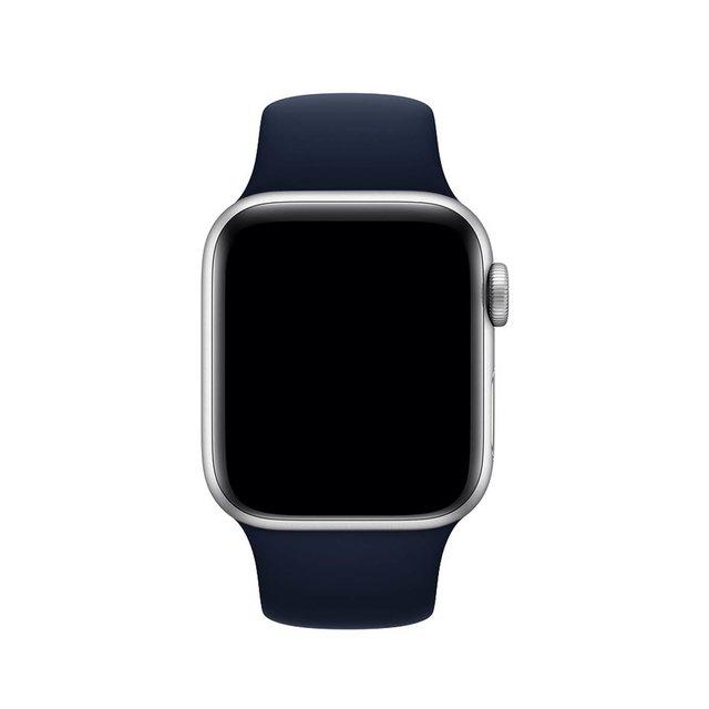 Pulseira de Silicone para Apple Watch Azul Marinho 38/40mm  MODEL-38/40-AZ