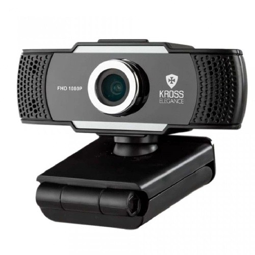 Web Cam HD 1080p Foco Manual com Tripé Kross Elegance KE-WBM1080P
