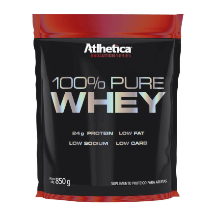 100% Pure Whey Protein - 850g - Atlhetica Nutrition - Sabor