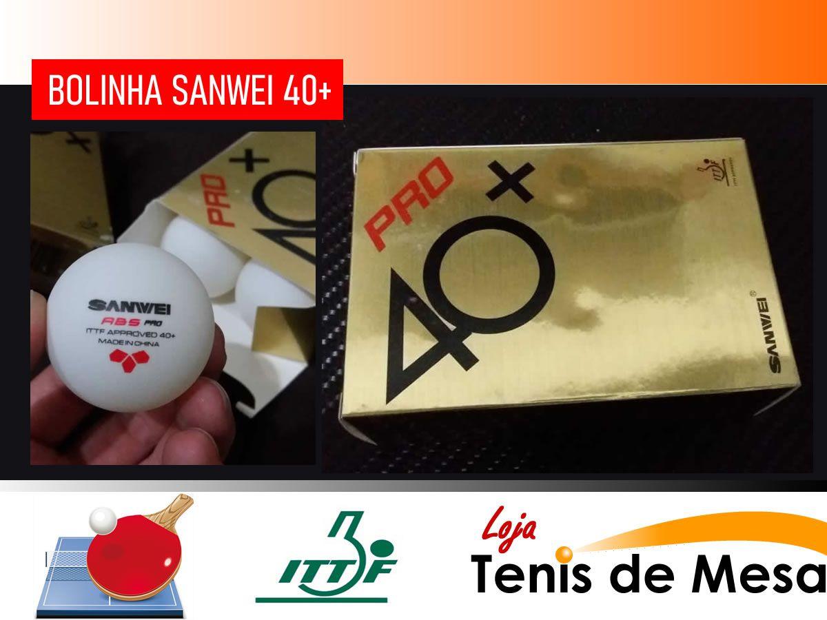 12 Bolas Tênis de Mesa Sanwei 40+ Pro Aprovado Ittf