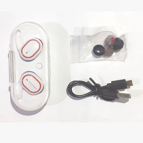 Fone Sem Fio H'maston Pro Ly-103 Bt V5.0 Branco/vermelho
