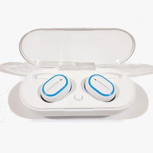 Fone Via Bluetooth H'maston Pro Ly-103 Airdots Branco/azul