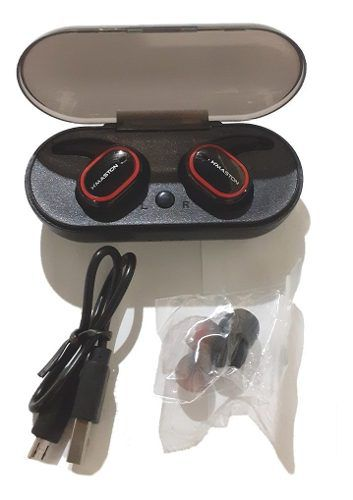 Mini Fone De Ouvido Bluetooth H'maston Pro Preto/vermelho