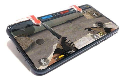 Gatilhos Portatil L1r1 Detalhe Vermelho Celular Pubg Mobile