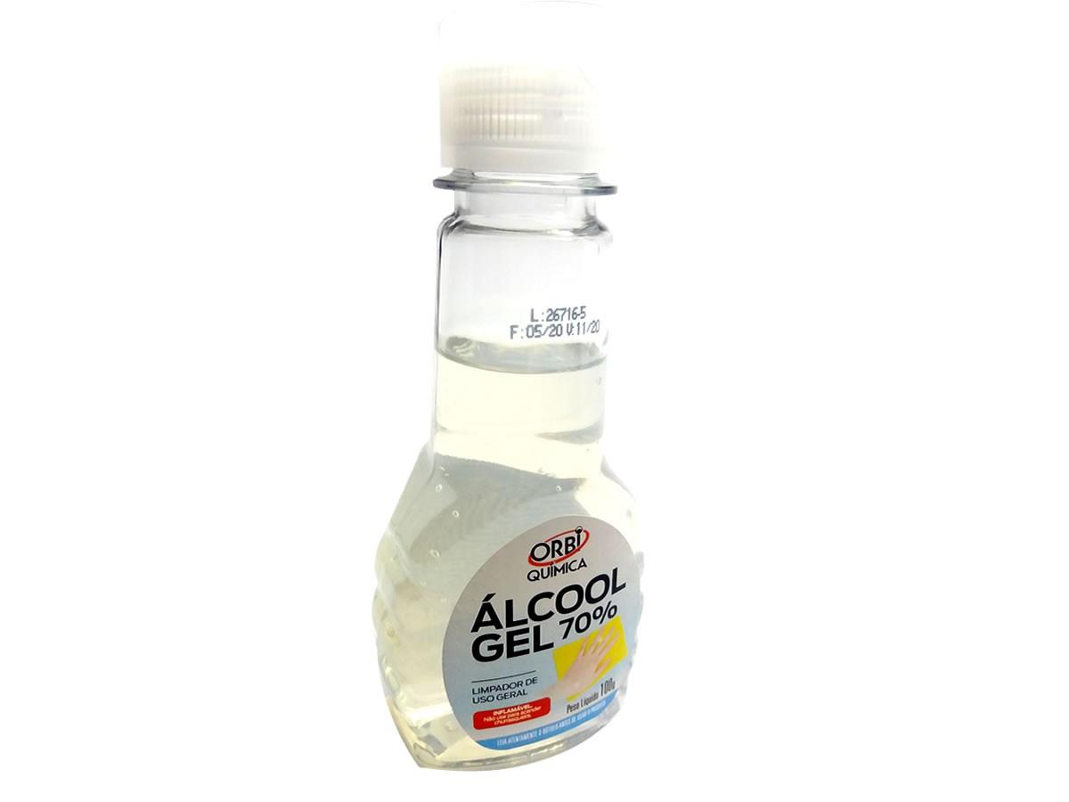 Alcool Gel Limpeza Das Mãos Orbi 70% Certificado Anvisa 100g