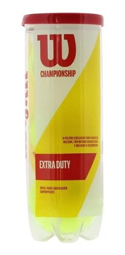 Bola De Tenis Wilson Championship Extra Duty 3 Bolas