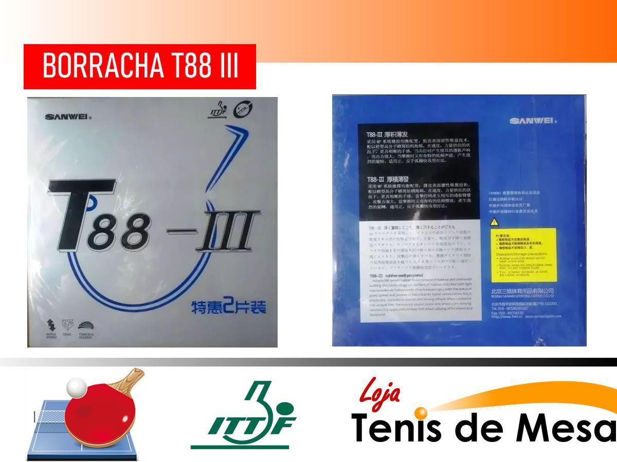 Borracha Tênis De Mesa Sanwei T88 I I I Envio Imediato