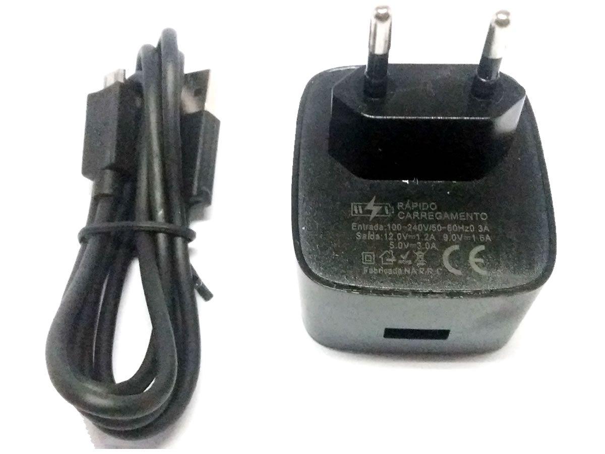 Carregador Turbo Motorola Samsung Power 3.0 Turbo Até 15w