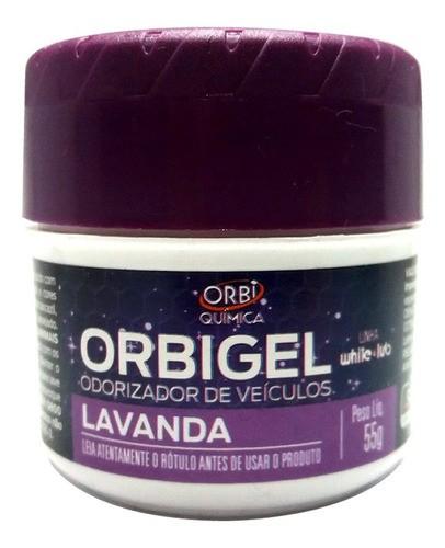 Cheirinho Aromatizadores De Carro Orbigel 55g Orbi Lavanda