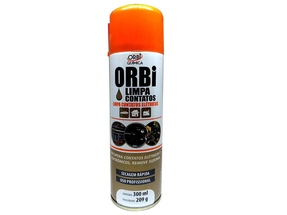 Limpa Contato Spray Aerosol Eletrico Eletrônicos 300ml Orbi