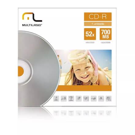 Midia CD-R Velocidade 52X Unitario Em Envelope Multilaser -