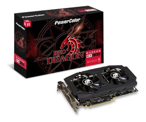 Placa De Vídeo Amd Red Dragon Radeon Rx 580 Oc Edition 8gb