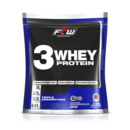 Whey 3 Protein Fitoway FTW - Sabor Chocolate - 2270gr
