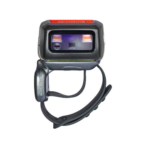 Anel Scanner de Códigos de Barras Laser Bluetooth 2D de Média Distância