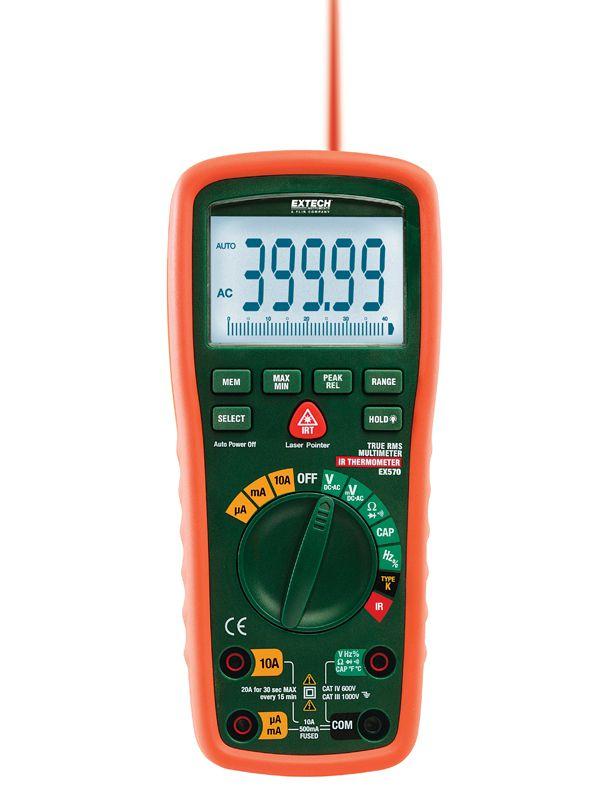 Multímetro True Rms De 12 Funções Com Termômetro Ir - Ex570