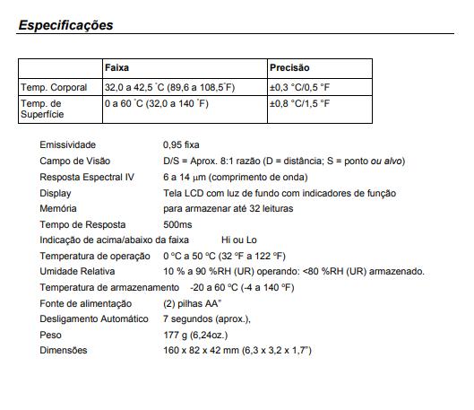 Termômetro Infravermelho De Testa Ir200 - Extech