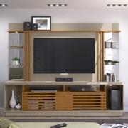 Estante Home Theater Frizz Gold para TV até 55 Polegadas Fendi Naturale AR Decor