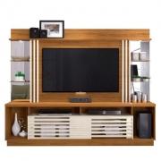 Estante Home Theater Frizz Gold para TV até 55 Polegadas Naturale Off White AR Decor