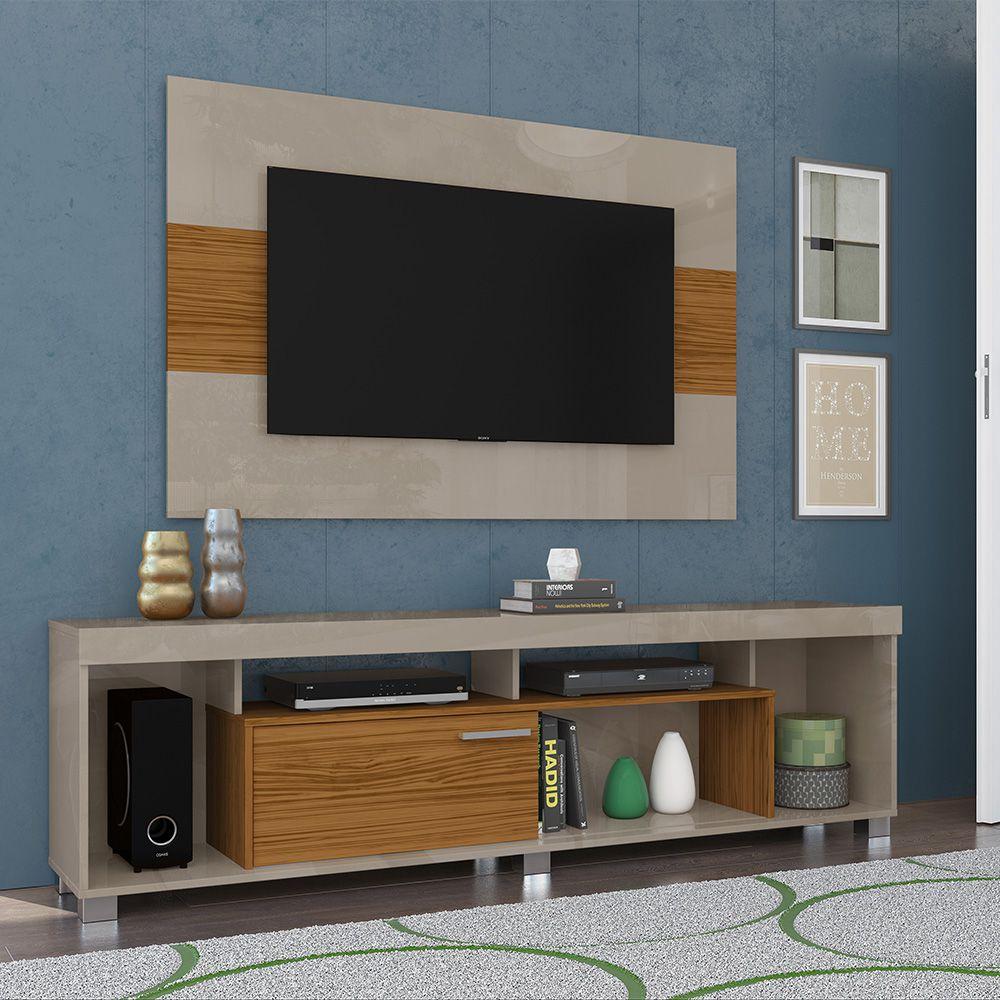 Combo Rack com painel Tomaz para TV de até 65 Pol. Rack / 55 Pol. Painel - MADETEC