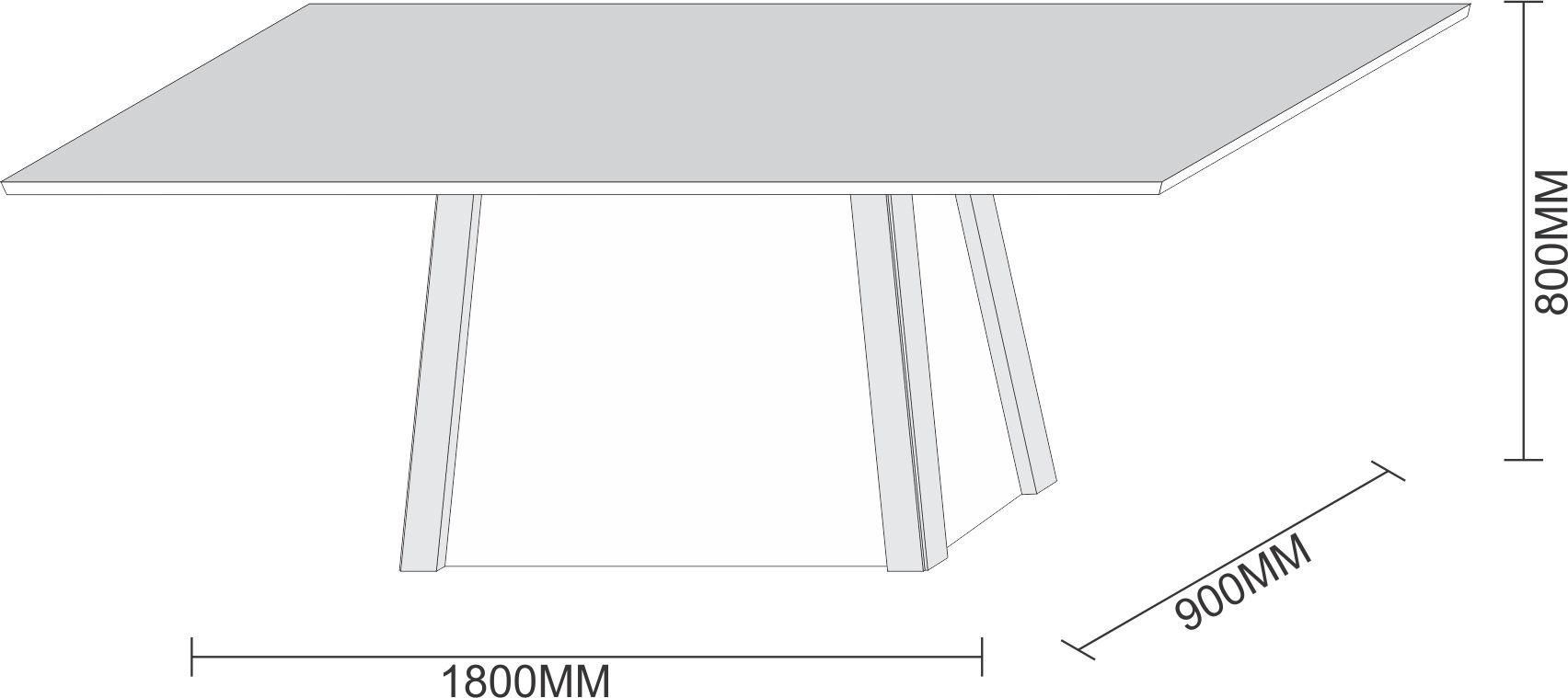 Conjunto Sala de Jantar Mesa Julia 1,80m Tampo com Vidro e 8 Cadeiras Caroline - New Ceval