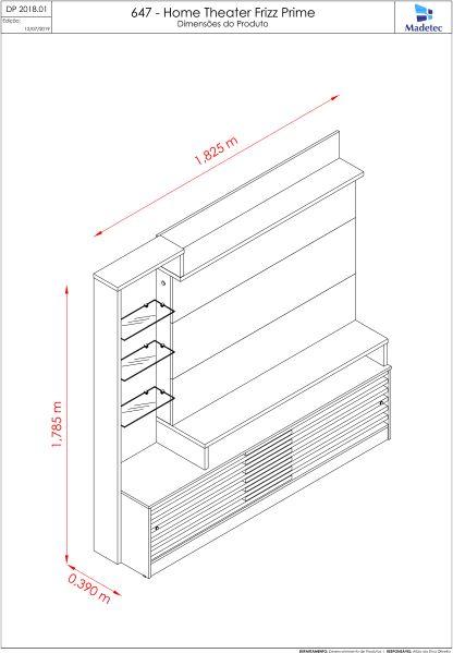 Estante Home Theater Frizz Prime Para Tv 55 Polegadas Naturale Off White Ar Decor