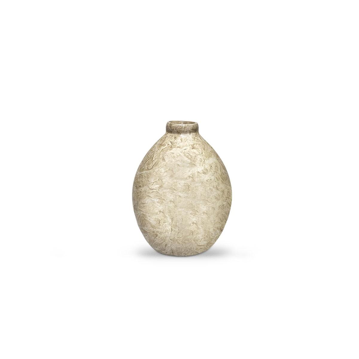 Vasinho Oasis M Decoração em cerâmica Bege Petra Enfeite de Mesa