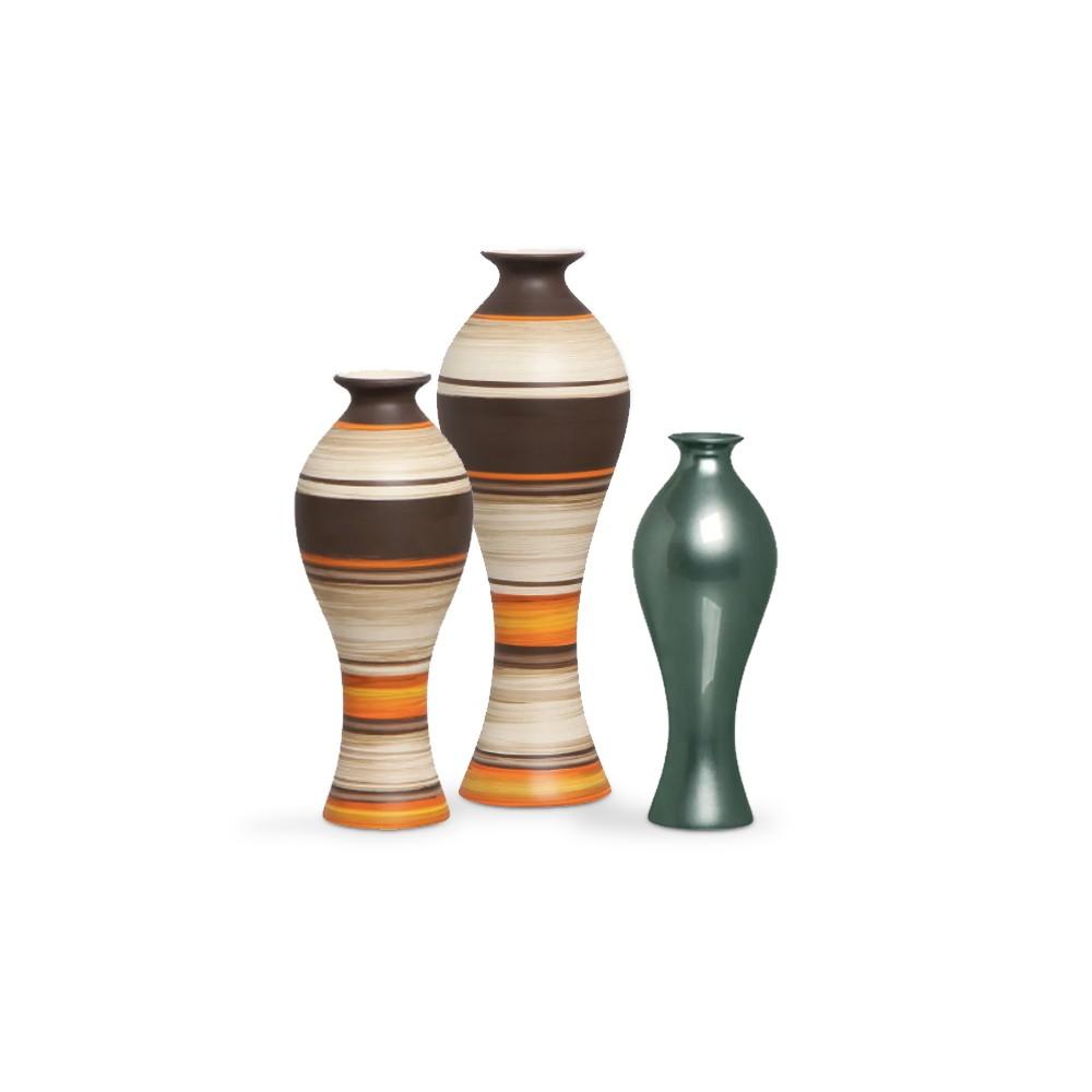 Trio Vasos de Mesa Califórnia New Sunset e Verde Perolado