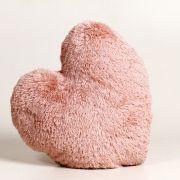 Almofada Coração Macia De Poliéster Com Capa Rosa 40 Cm