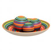 Centro De Mesa Bacia Com Esferas Cerâmica Colors