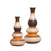 Dupla Decorativa Vaso Antares Decoração Em Cerâmica New Sunset