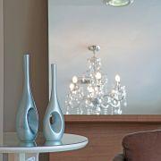 Dupla Garrafa Arabella Decoração Em Cerâmica Cinza Fosco