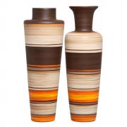 Dupla Vaso De Chão Paris E Madri Cerâmica New Sunset