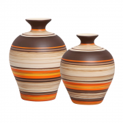 Dupla Vaso Decorativo Topázio Decoração Cerâmica New Sunset