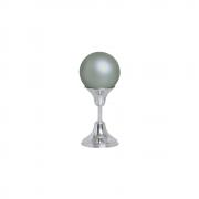 Esfera P Com Pedestal Alumínio Decoração Cerâmica Cinza Fosco