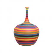 Garrafa Colorida Lira G Decoração Em Cerâmica Colors