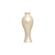 Vaso Decorativo Califórnia P Decoração Em Cerâmica Creme