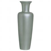 Vaso Decorativo De Chão Madri Decoração Em Cerâmica Cinza Fosco
