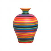 Vaso Decorativo Topazio G Enfeite Cerâmica Colors