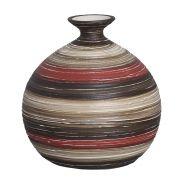 Vaso Maia G Decoração Em Cerâmica Vermelho e Marrom Oca