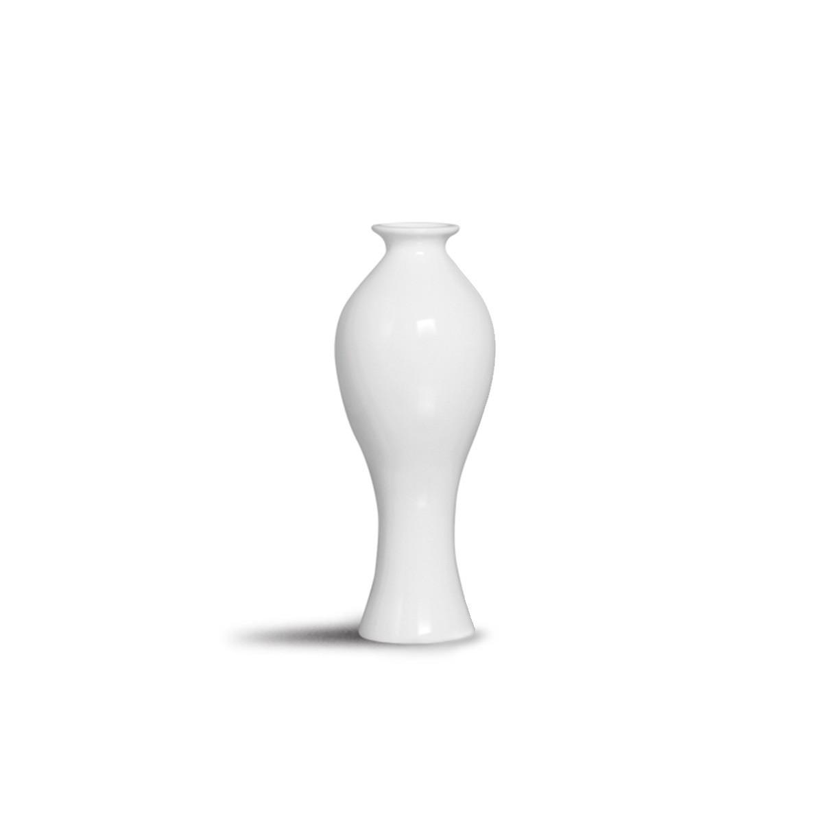 Vaso Califórnia M Branco Decoração Em Cerâmica Clássica