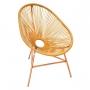 Cadeira Acapulco Palha Confortável para Decoração de Sala