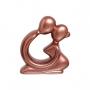 Escultura Casal Namorados Decoração Cerâmica Rosé Gold