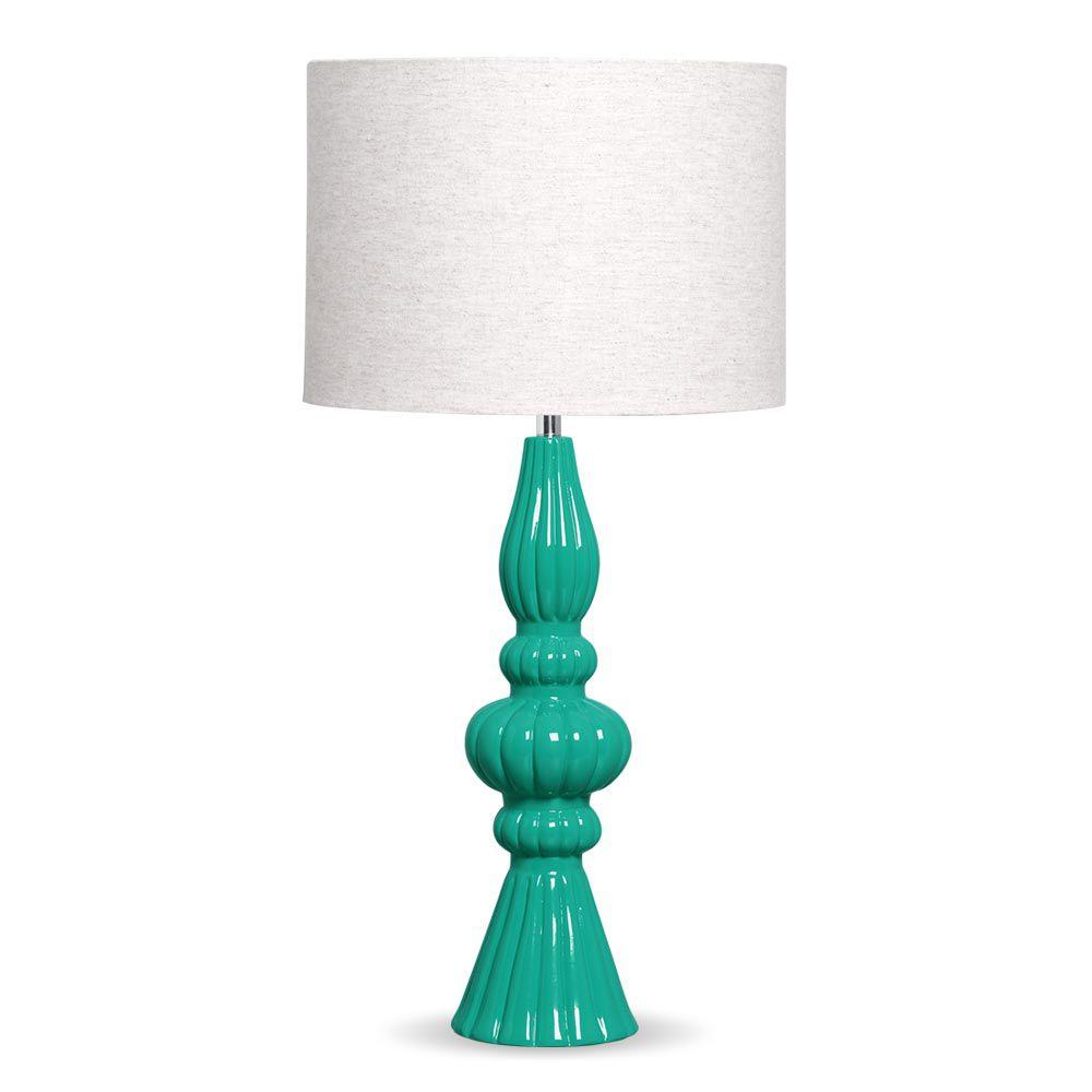 Abajour Pitanga Com Cúpula De Tecido Tiffany